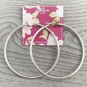 Isabella M Large Sterling Silver Hoop Earrings